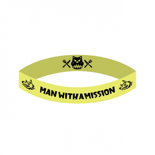 新品 ラバーバンド 黄色 MAN WITH A MISSION Tシャツ