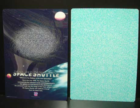 3-Dアート●下敷き●スペースシャトル●メガネ無立体映像/新品_画像3