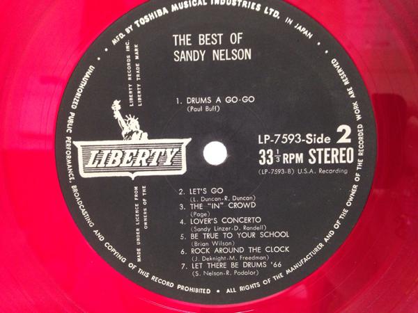 帯付 LP 赤盤 ベストオブ サンディー・ネルソン ドラム