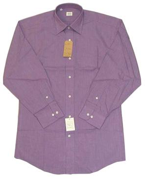 新品 綿100%エンドオンエンド セミワイドシャツ Lilac 16.5(42)_エンドオンエンド織 セミワイド