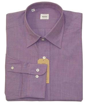 新品 綿100%エンドオンエンド セミワイドシャツ Lilac 16.5(42)_合わせやすくオシャレなお色です