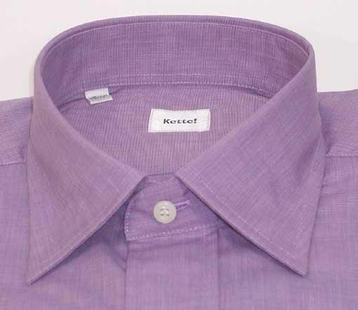 新品 綿100%エンドオンエンド セミワイドシャツ Lilac 16.5(42)_とってもきれいな ライラック