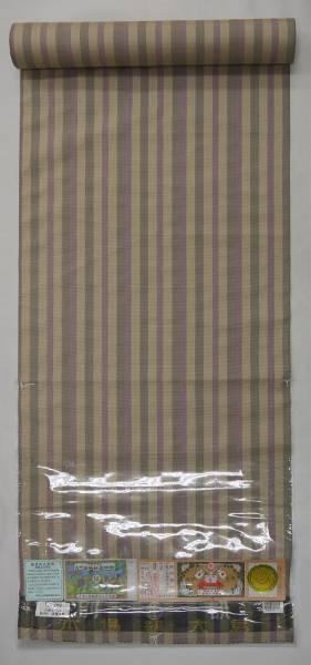 見切超特価:本場大島・古代染純植物染・縞柄・手縫い仕立付・6_画像1