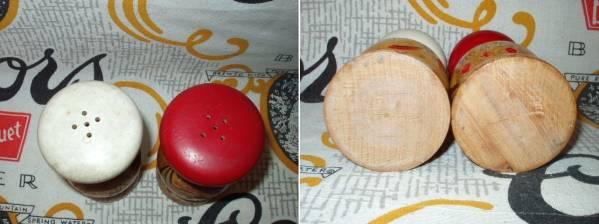 50's 木製 S&P ソルト&ペッパー 日本製 キッチンカントリー雑貨 アンティーク インテリア 収納容器 調味料入れ_画像3