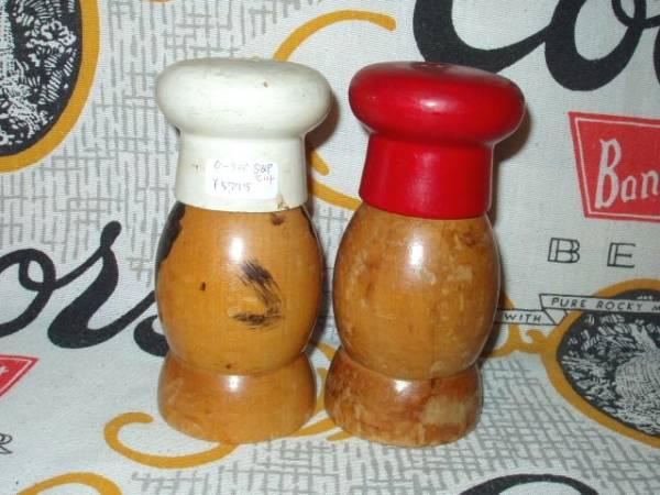 50's 木製 S&P ソルト&ペッパー 日本製 キッチンカントリー雑貨 アンティーク インテリア 収納容器 調味料入れ_画像2