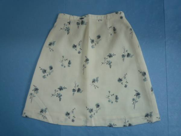 【お得!!】■台形スカート■ 花柄 オフホワイト ミニ 63-90