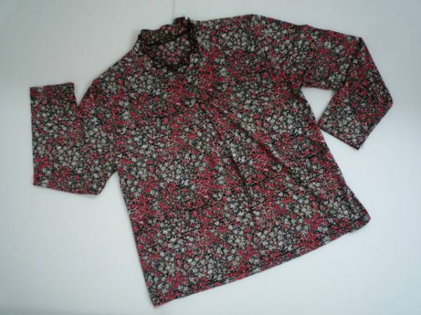 【お買い得!】 ◆ J.M.J.K ◆ 花柄カットソー 黒 M-L 長袖 フリル