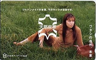 ●雛形あきこ(日本タンナーズ協会)のテレカ● グッズの画像