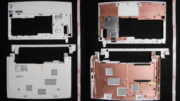 ONKYOネットブック「DC413」本体外装のみ現状売り B級・ジャンク_写真にはありませんがSDカードカバー有