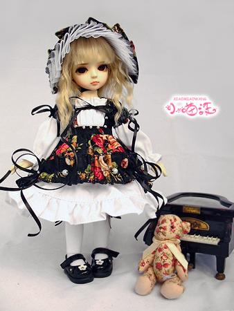 【小猫汪】 幼SD女の子用お洋服4点セット ☆百花☆_画像1