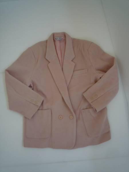 【大きいサイズ!】◆WAVE BERRY◆ 長袖ジャケット 無地 ピンク