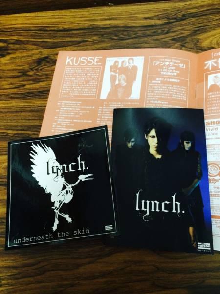 lynch.◆フライヤー&グッズセット/葉月 KUSSE 特典 DVD CD_画像2