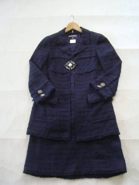 CHANEL ツイードスーツ size36 シャネル ジャケット スカート (P)_画像2