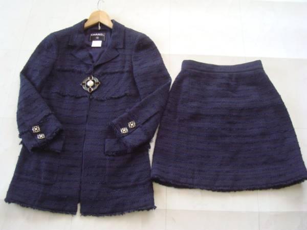 CHANEL ツイードスーツ size36 シャネル ジャケット スカート (P)_画像1