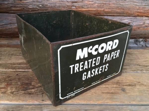 Mc CORDメタルケース/ビンテージガレージジャンク収納ボックス