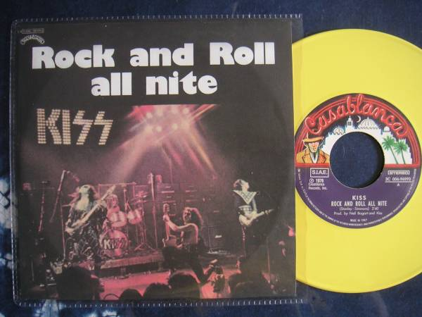 【7】KISS/ROCK AND ROLL ALL NITE(006-96993欧州製限定イタリア当時盤仕様イエローカラーヴィニール)_画像1
