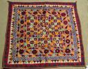 インド グジャラート地方 タペストリー 木綿に刺繍とアップリケ
