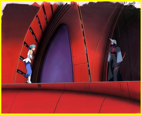 セル画●1B舞‐乙HiME Zweiの久行宏和参加ガンダムSEED DESTINYマリューセーラームーンエヴァンゲリオンミサト役三石琴乃出演GEAR戦士電童_背景もさることながら場面も素敵です。