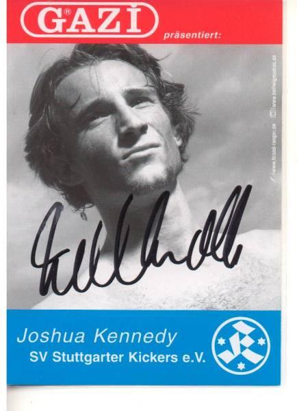 A698 クラブ発行直筆サイン オーストラリア代表 ジョシュア・ケネディ シュツットガルター・キッカーズ 02/03 名古屋グランパス