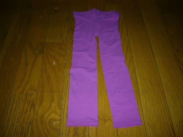 スパッツ タイツ 7分丈 光沢の紫 35デニール 可愛くてお洒落 スカート中に 未使用_画像1