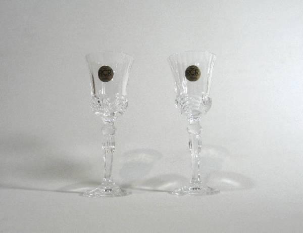 【1FB-192 未使用品】イタリア/ROYAL CLYSTAL ROOK/ペアワイングラス/高杯/サイズ:直径約5.5cm×高さ14.5cm/全国送料無料