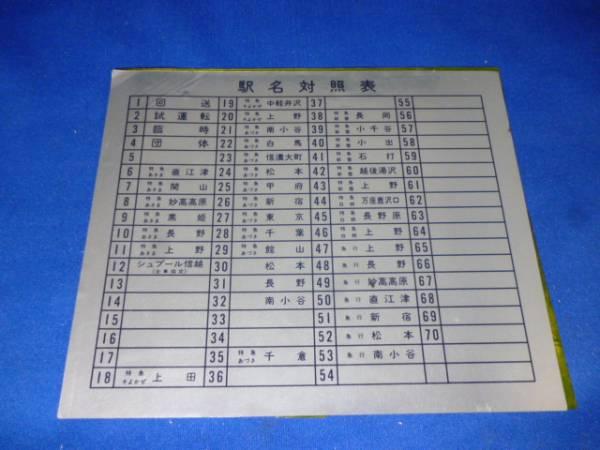 送料無料 鉄道 駅名対照表 未使用 懐古コレクション 禁煙環境で保管 3