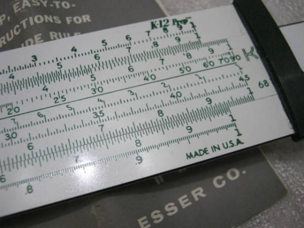 米国 Keuffel & Esser( K&E社) 計算尺 マニュアル付き_画像3