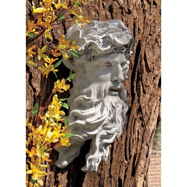 海神ポセイドン頭部像 西洋彫刻像神像壁掛けレリーフギリシャ神話インテリア装飾品飾り小物オブジェアンティーク風壁飾りウォールデコ雑貨_画像1