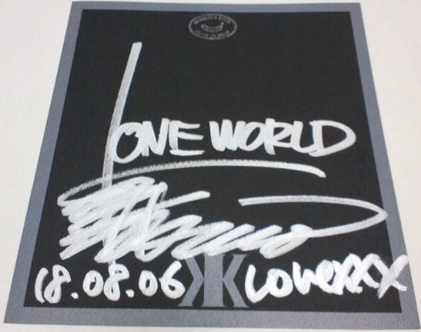吉川晃司 '06,8,18ライブ会場物販特典 サイン色紙 美品 ライブグッズの画像