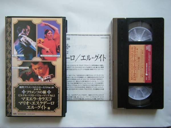 即決中古VHSビデオ「現代フラメンコのスターたち Vol.30 フラメンコの根 ビエナル・ベスト・パフォーマンス Vol.2 マヌエラ・カラスコ 他」_画像1