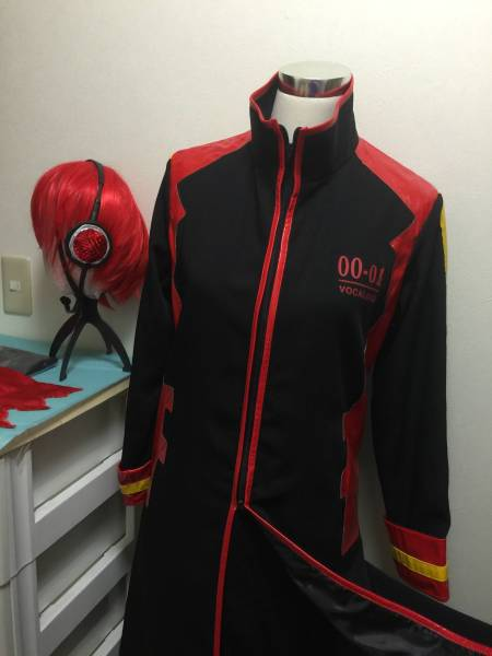 Costume Play Clothes Vocaloid Kite Kind Akai To Black Long Coat
