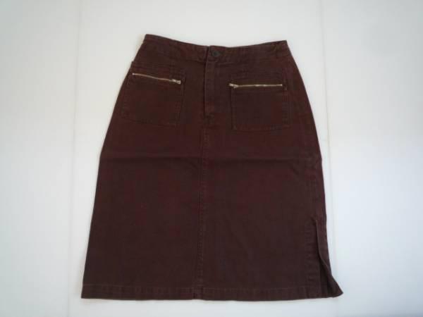 【お得!!】 ●OLIVE des OLIVE● デザインスカート 茶 膝丈
