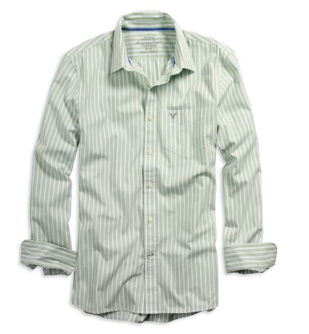 送料無料■新品■AEアメリカンイーグル■長袖ストライプシャツ_画像1