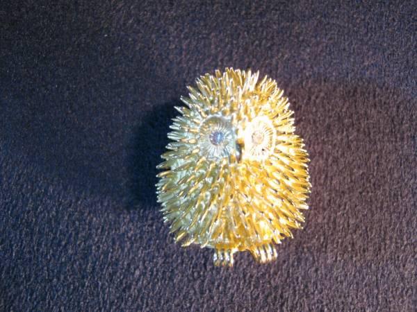 ★不苦労★金価格1g7,000円越え★フクロウのペンダントトップ★K18無垢★両眼ダイヤモンド★_可愛いフクロウのデザインです。