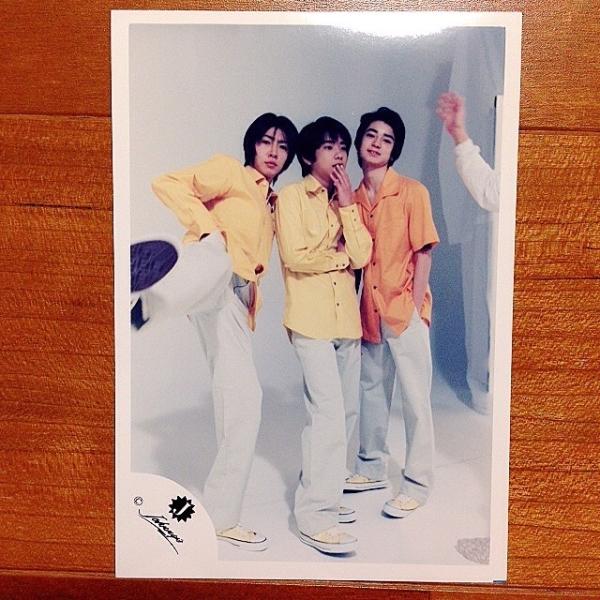 即決¥1000★嵐 公式写真 813★二宮和也 松本潤 相葉雅紀 Jr.時代 貴重 かわいい Jロゴ