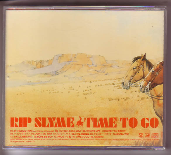 Y-08b RIP SLYME / TIME TO GO_画像2