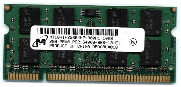 [Hp/Compaq]対応メモリー 2GB PC2-6400 200Pin 即決 相性保証 _画像1