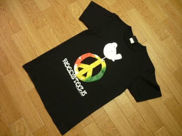 WOOD STOCKウッドストック状態良好M半袖Tシャツ黒ブラック