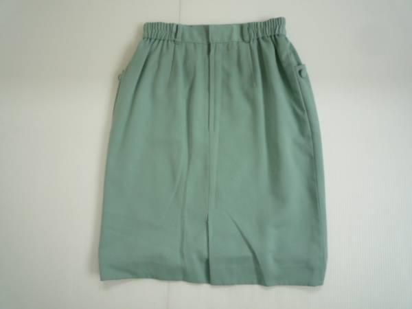 【お得!!】■SUDO■ 台形スカート 緑色系 膝丈 無地 72_画像2