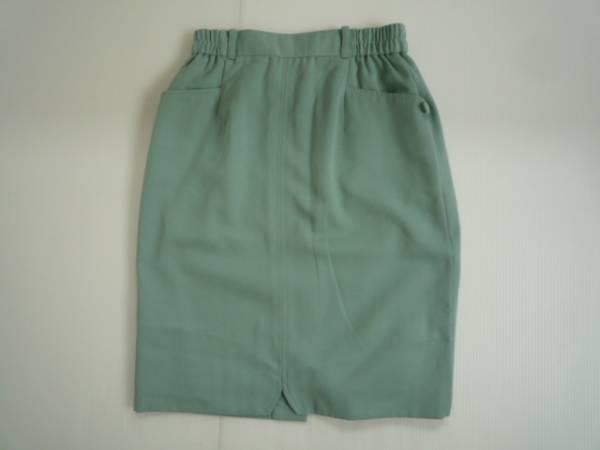 【お得!!】■SUDO■ 台形スカート 緑色系 膝丈 無地 72