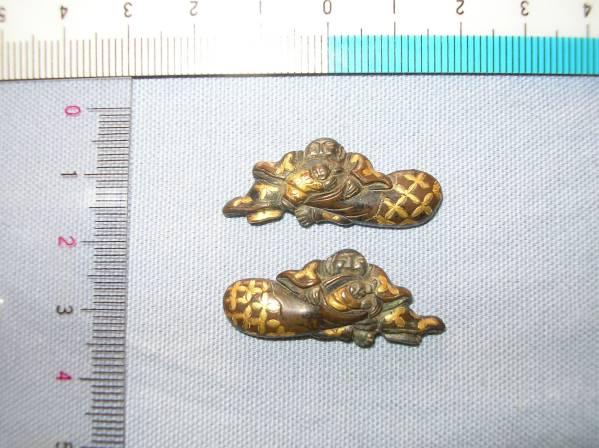目貫 江戸期 布袋 子供_画像1