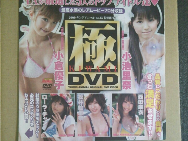 ★ヤングアニマル付録DVD★小倉優子★小池里奈★極 グッズの画像