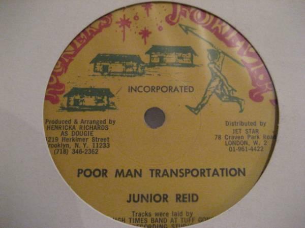 ★Junior Reid/Poor Man Transportation★KILLER ROOTS!_画像1