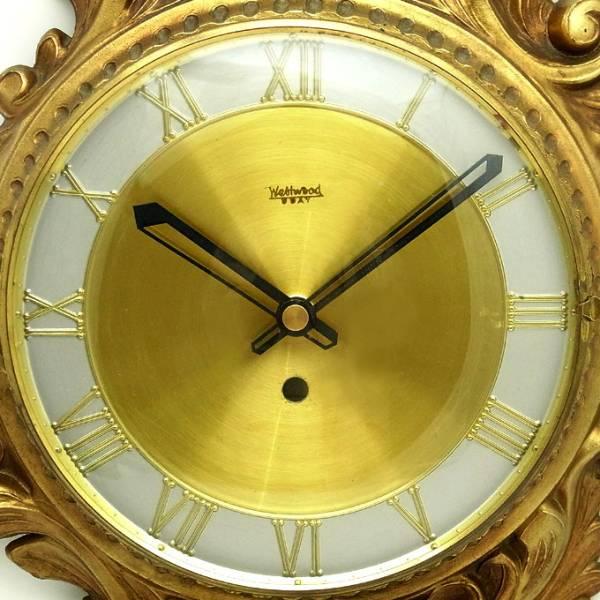 送料無料 アンティークウォールクロック WESTWOOD/ヴィンテージ壁掛け時計アメリカusaミッドセンチュリーモダン昭和レトロ60s70s北欧柱時計_画像3