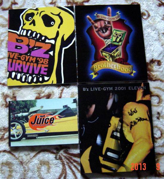 B'z ツアーパンフレット3冊&写真集 '98~'00