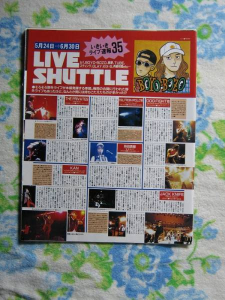'89【Liveルポ】持田真樹 JACK KNIFE DOG FIGHT THE PRIVATES ♯
