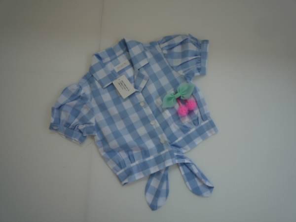 【新品・半額!!】 ■Merry Kate■ 韓国子供服 前結びシャツ XS