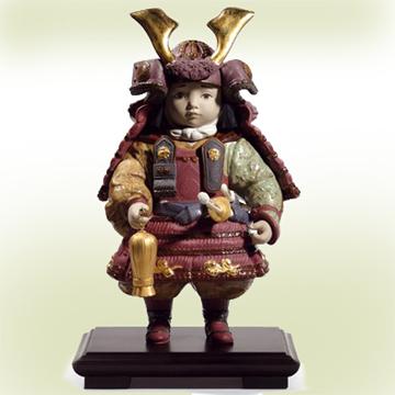 リヤドロ LLADRO No.13045『若武者60周年記念』■限定3500体作品 端午の節句 五月人形