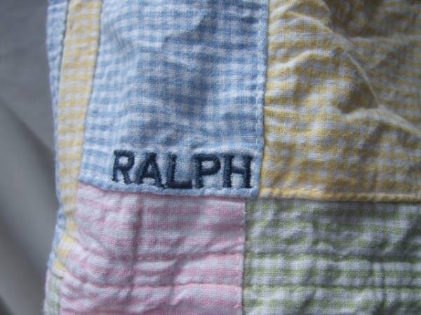 ●ラルフローレンギンガムチェックパッチワークショートパンツ Ralph Lauren_画像2