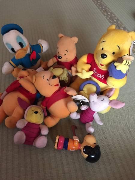 ぬいぐるみディズニーぷーさん、ドナルド、ピグレット ディズニーグッズの画像
